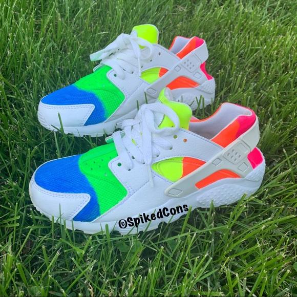 Nike Shoes   Neon Custom Nike Air